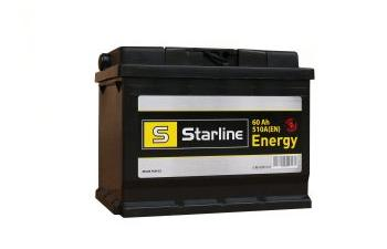 Аккумулятор Starline energy 60Ah 510En правый \