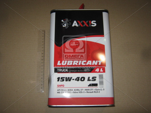 Масло моторн. AXXIS TRUCK 15W-40  LS SHPD (Канистра 4л) AXXIS  ПОЛЬША 48021043892