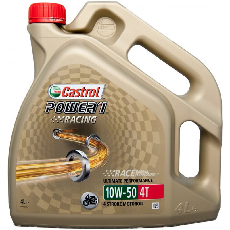 Моторное масло CASTROL 10W50RACING4T4L